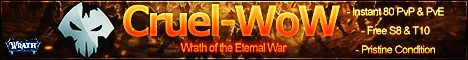 Cruel-WoW Instant 80 PvP PvE 335a
