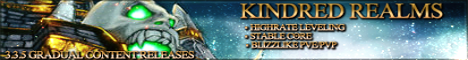 Kindred Realms - 3.3.5 Proggressive PVE/PVP