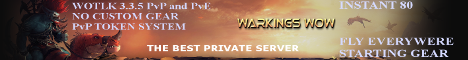 Warkings WoW 3.3.5 Instant 80 PvP Fly Everywere