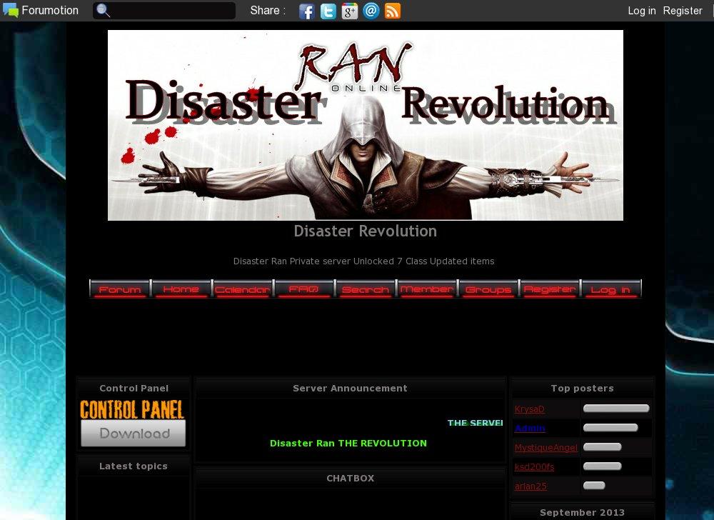 Disaster Ran Online EP8 MIX EP9 SERVER - Ran Online | Gaming top