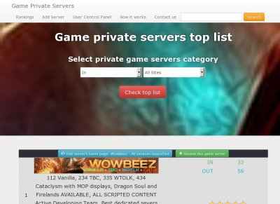 Private Game Servers List   Games World